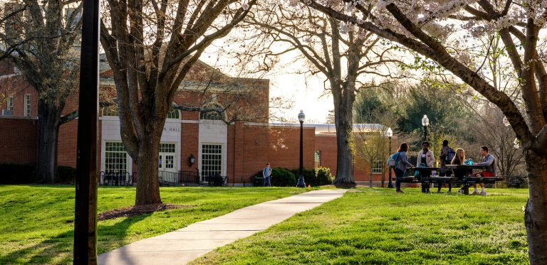 Campus LifeSalem Hall in the Spring
