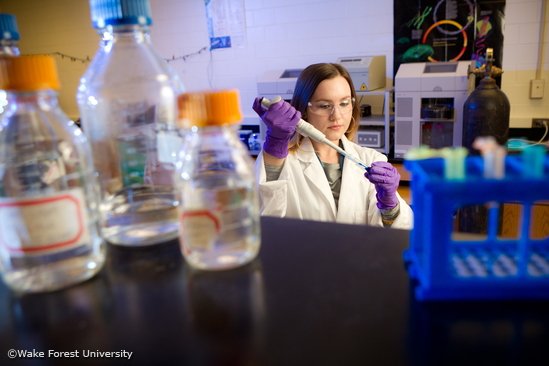Wake Forest chemistry graduate student Stephanie Rockett